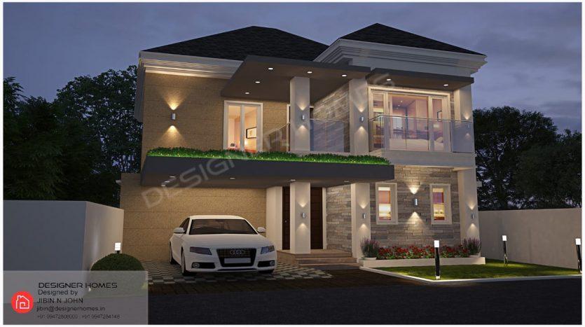 European style house plans Kerala