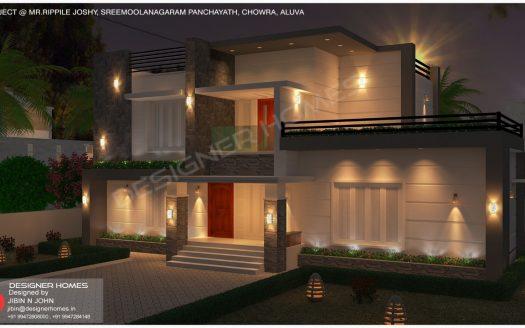 Square type house design