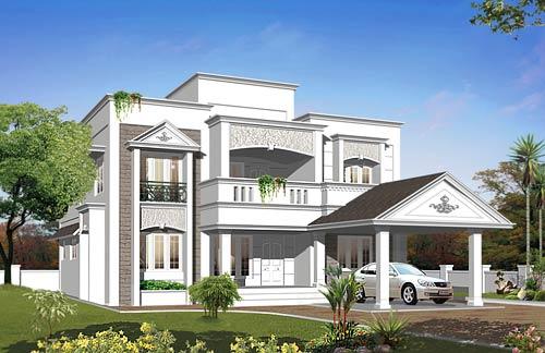 Semi contemporary House Plans