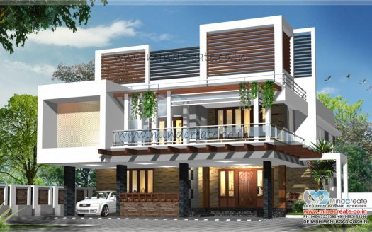 contemporary-type-house-elevation