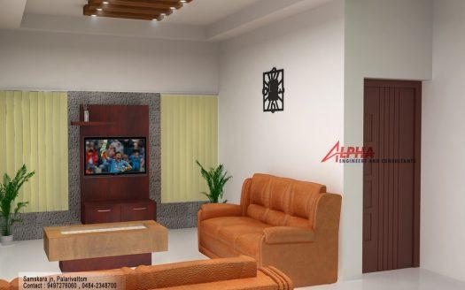 Ranch model living area